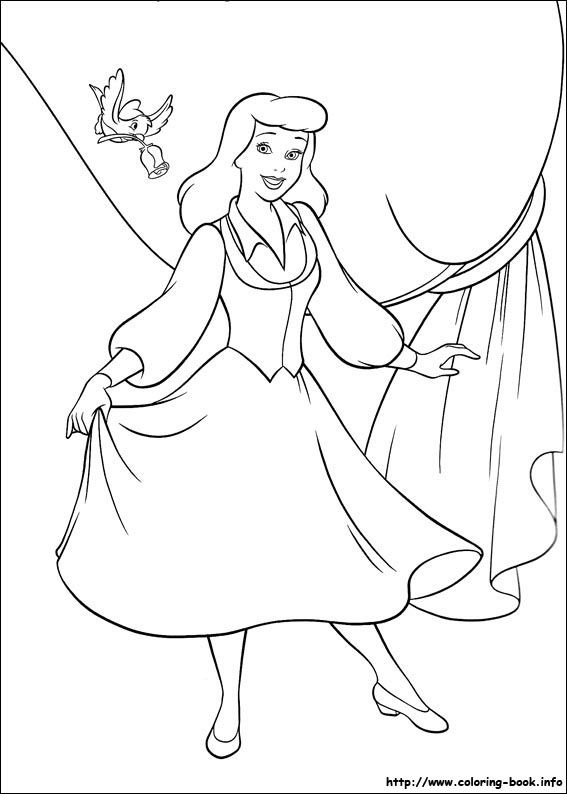 The Bird Wants To Give A Rose For Cinderella Coloring Page From Category Select 27252 Printable Crafts Of Cartoons Nature Animals