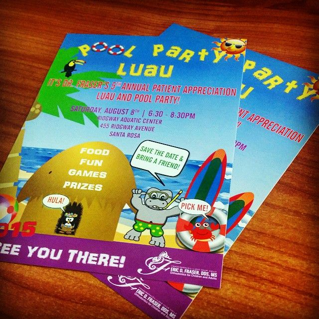 Pool party time? You know it! Eric Fraser DDS is hosting is annual pool party for his patients and has once again asked up to print up the #invites. They turned out so great that I want to go!  #dds #dentistoffice #patientappreciation #poolparty #partyinvites #digital #digitalprinting #fullcolors #cmyk