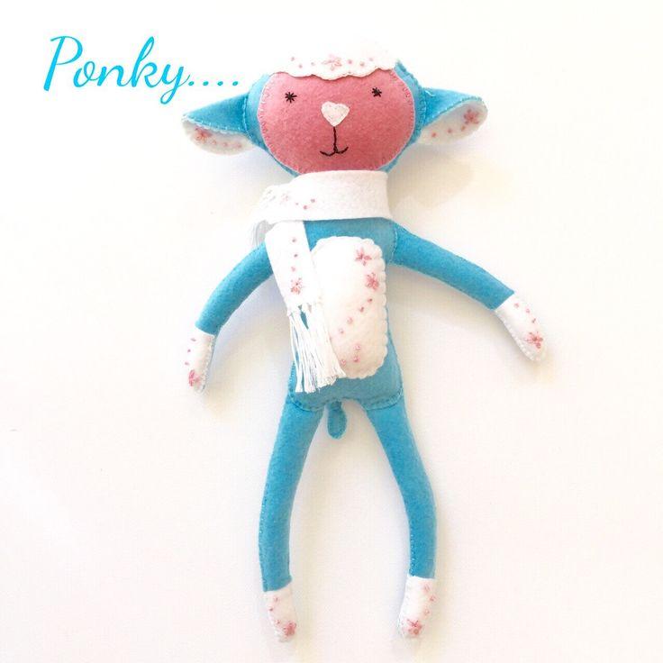 Handmade toy - felt toy - felt lamb  - gift - toy - plushie - felt plushie - toy lamb by EverSewNice on Etsy https://www.etsy.com/listing/292074887/handmade-toy-felt-toy-felt-lamb-gift-toy