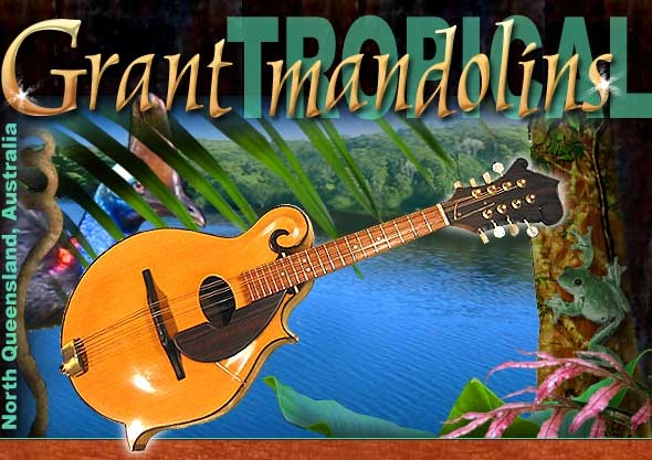 From the tropics of Far North Queensland Australia, native timbers are partnered with fine craftsmanship to create eight stringed musical pleasures.    A limited number of hand built mandolin family instruments are produced each year, and are sold only at the workshop door.