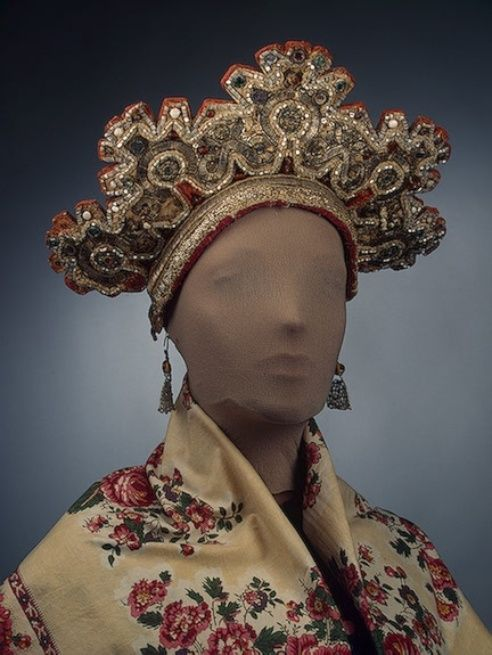 Maiden's Headdress Archangel Province Russia. Second half of 19th century