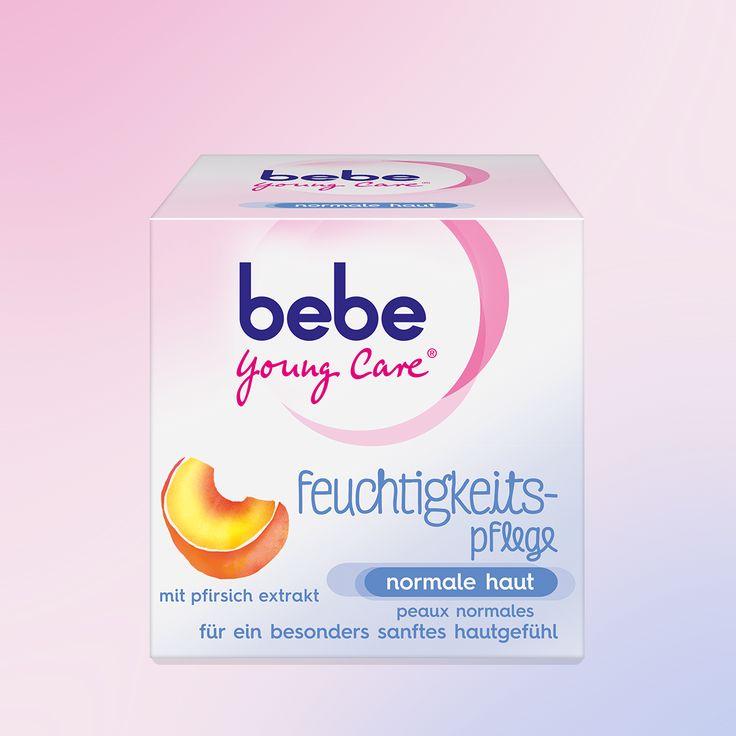 Die feuchtigkeitspflege von bebe Young Care® wurde speziell für normale Haut entwickelt. Die Formel mit Pfirsich-Extrakt  und Vitamin E versorgt die Haut 24h mit Feuchtigkeit und pflegt sie angenehm zart.