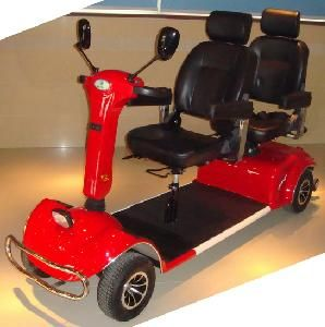 Two-Seat Heavy-Duty Larger Powerful Mobility Scooter (QX-04-10A)