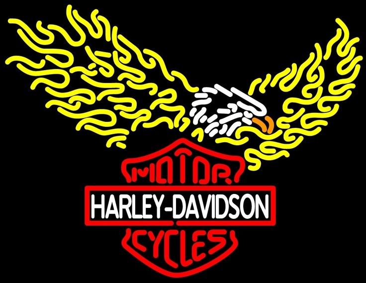 "HARLEY DAVIDSON MOTORCYCLE BIKE NEON LIGHT SIGN 30\""X20"