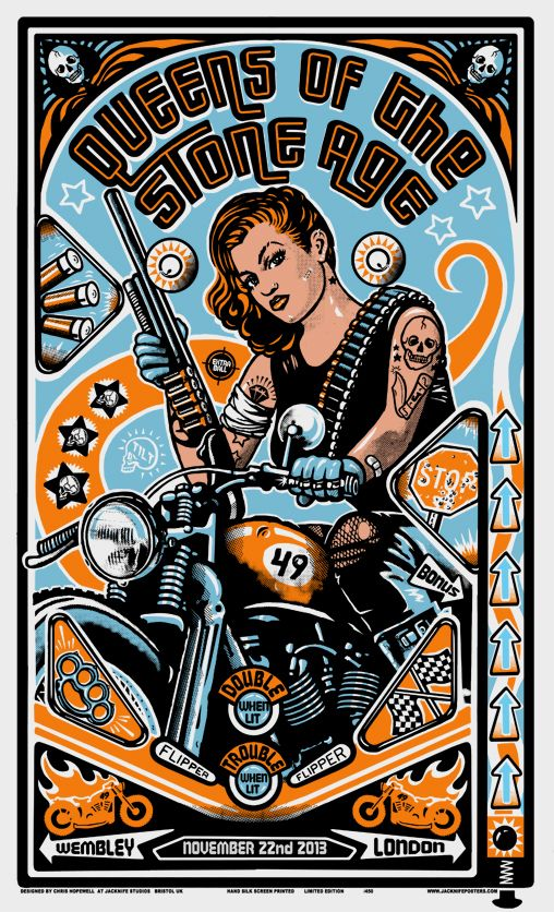 Queens of the Stone Age - Wembley 22.11.13 by Chris Hopewell and Jacknife Design