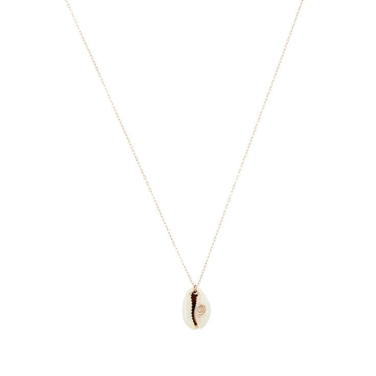 Feidt Paris Hand Ibiza Long Necklace in 9K Gold and Grey Sapphire ZoPitsnI