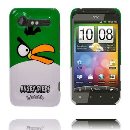 Angry Bird HTC Incredible S Deksel (Grønn Topp)