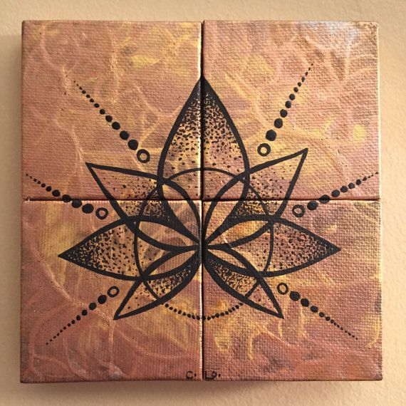 Mandala Light/tiny canvas art/hand by CLoTheArtist on Etsy