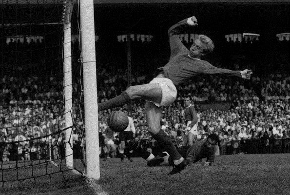 """Dennis Law the original King of """"THE STRETFORD END""""  an absolute predator  in front of the goal. One Third of United's Holy Trinity. Best, Law & Charlton"""