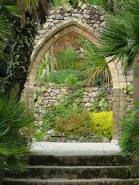 Tresco Abbey Garden, Tresco, Isles of Scilly. The 17-acre garden was created in the early 19th century by Augustus Smith within the grounds of the home he designed and built, and remains in the family
