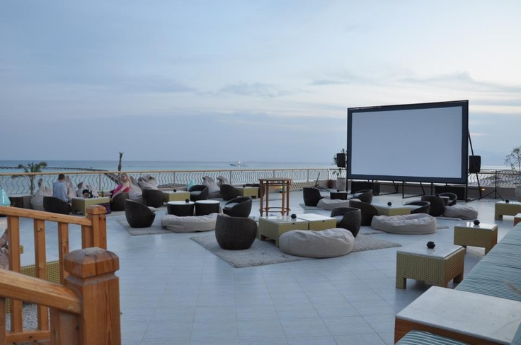 Open air, roof top theater