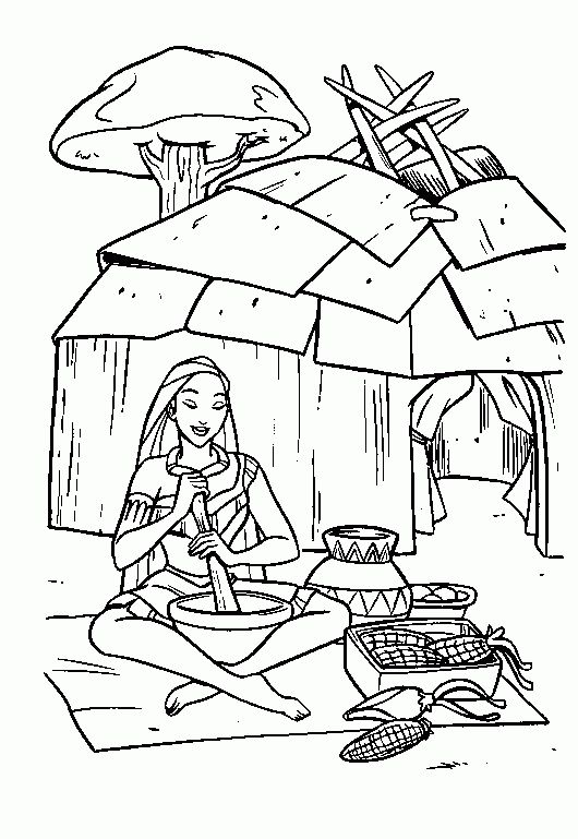indianer 33 ausmalbilder | disney princess coloring pages