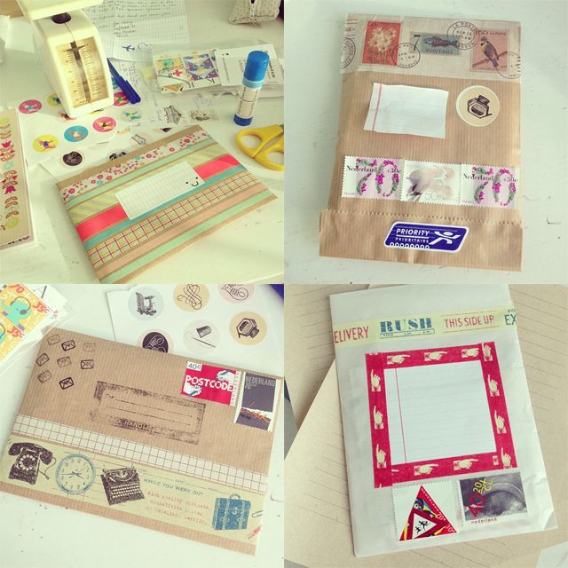 A Flood of Memories--- I really like the bottom left, beige strip of paper with the random stamps on it.