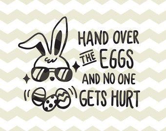 Hoppy Easter cute  fun happy Easter bunny rabbit digital cut