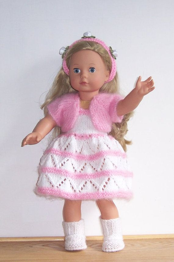 PDF knitting pattern for 18 doll, American Girl,Gotz, and similar size dolls via Etsy