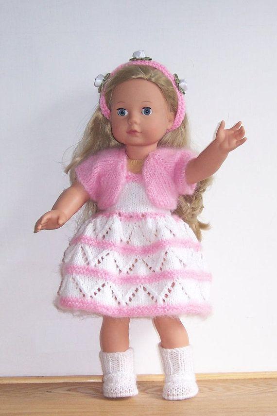 PDF knitting pattern for 18 doll, American Girl,Gotz, and similar size dolls via Etsy