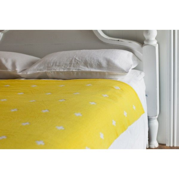 Cross Blanket Lemon Zest Large