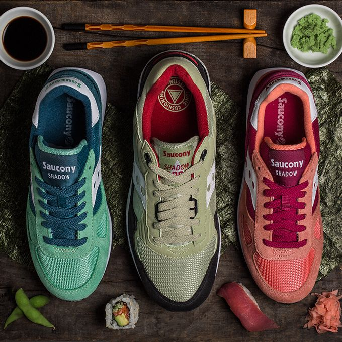 Online Without Sale Tax Womens Shoes Saucony Originals Shadow Original - Sushi Pack Pink/Red