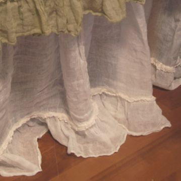 romantic prairie style bedskirt