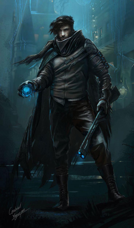 Rogue Character Concept, Gabriel Yeganyan on ArtStation at https://www.artstation.com/artwork/r9kgm