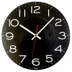 11-1/2 in. Black Wall Clock with Quartz Movement, Black W/White Numbers