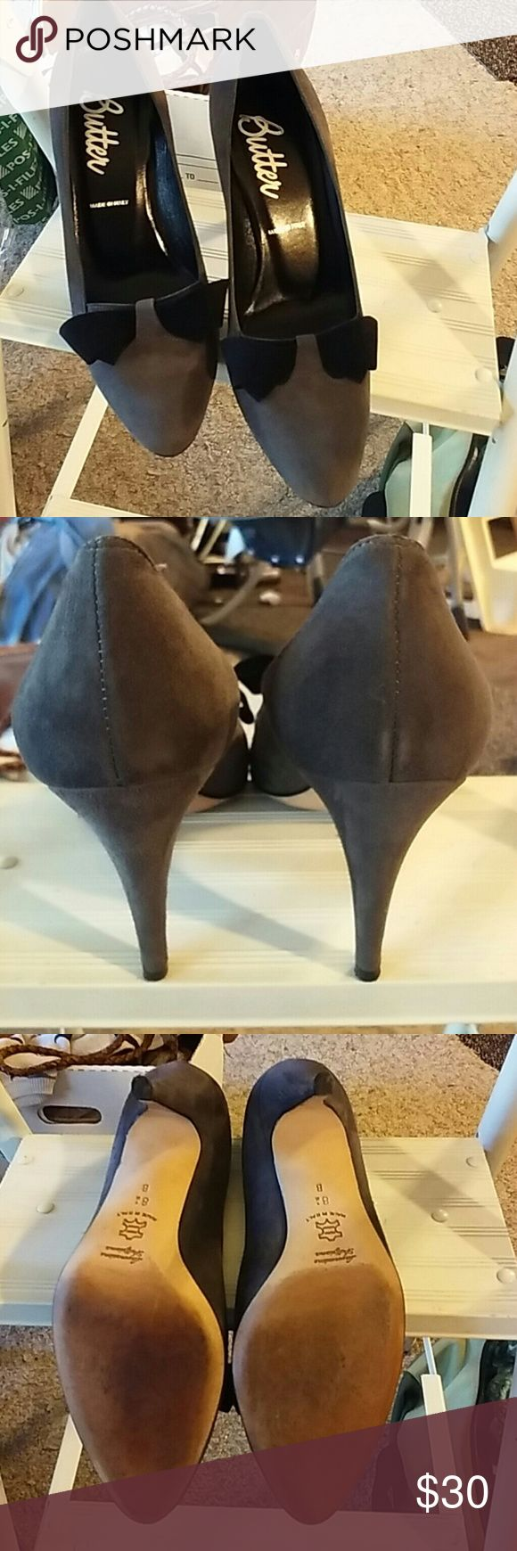 Butter suede heels Euc gorgeous heels worn under 5 times Butter Shoes Shoes Heels