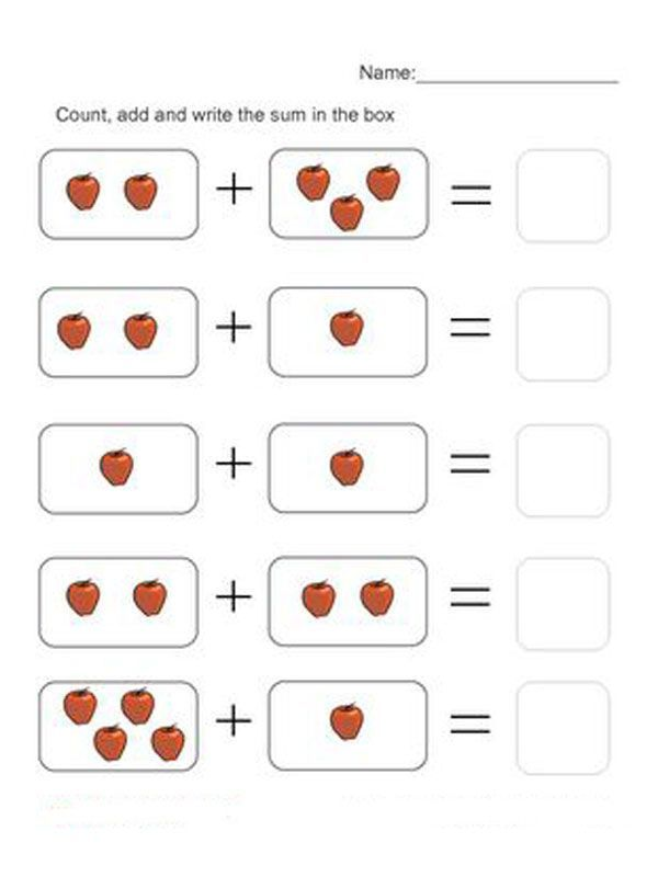 Touch Math Addition Worksheets 001 Math Addition Worksheets Kindergarten Worksheets Printable Preschool Math Worksheets