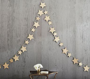 Emily & Meritt Glitter Star Garland #pbkids