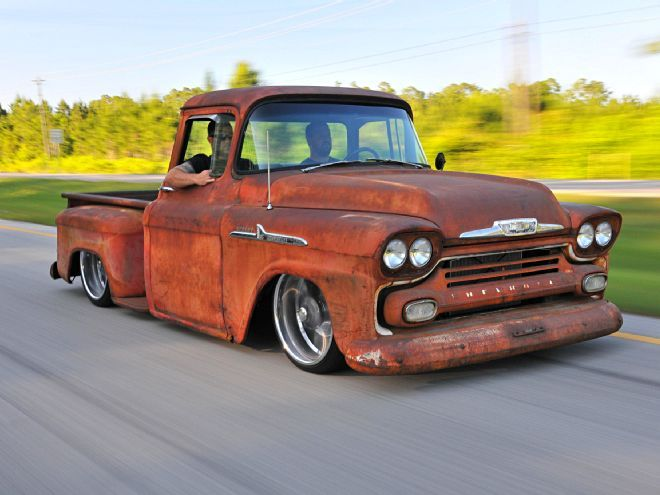 This 1958 Chevy Apache is rusty on the outside and ultramodern underneath.