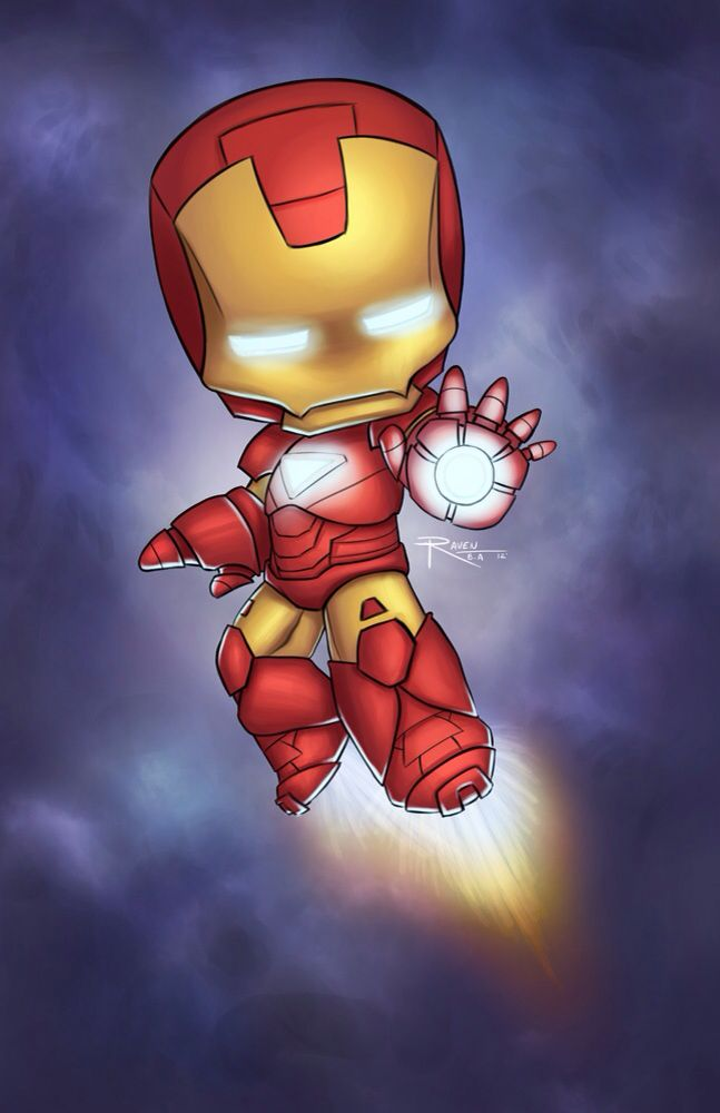 Iron Man. Am I the only one that finds this picture adorable?