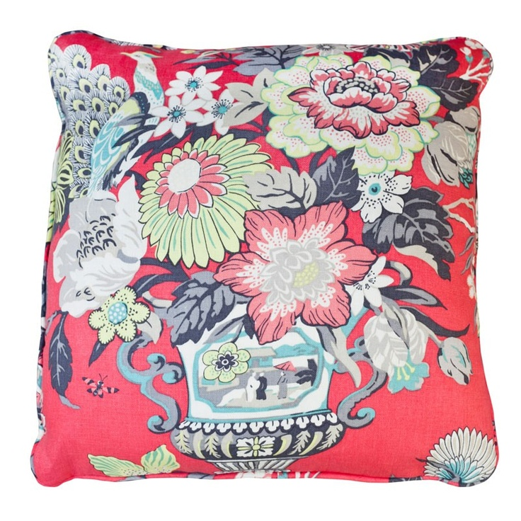 Stuart Lawrence Liberty Gray Throw Pillow: Coral Pillows, Gray Throw, Lawrence Liberty, Decorative Pillows, Liberty Gray, Throw Pillows, Decor Pillows, Fabric