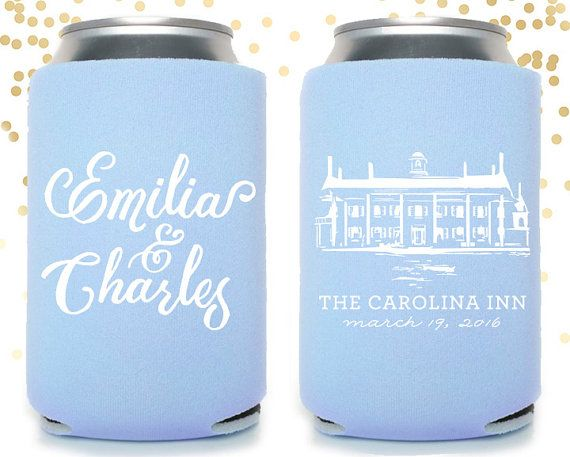 Chapel Hill Carolina Inn UNC Custom Can Cooler by TheDrinkingBuddy