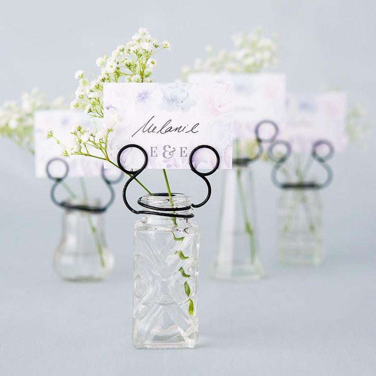 mini vaseporte nom vintage vintage inspired pressed glass vases with stationery holders wedding place card