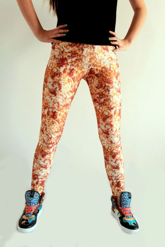 Pizza Leggings by eatmeclothing on Etsy