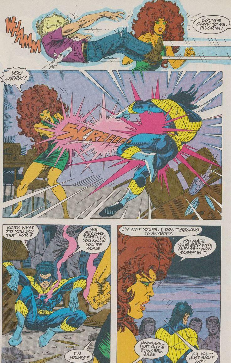 Starfire Koriandr And Nightwing Robin Or Dick Grayson -8510