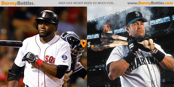 David Ortiz vs Edgar Martinez. Which of this two wins your vote? CLICK HERE TO VOTE: http://www.barmybattles.com/2014/03/19/david-ortiz-vs-edgar-martinez/