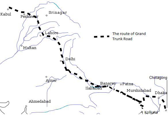For more than 20 centuries, travelers have walked, ridden, prayed, traded, invaded, escaped,  fought, and died along the 1,500 miles of the Grand Trunk Road which stretches from Kolkata to Kabul.