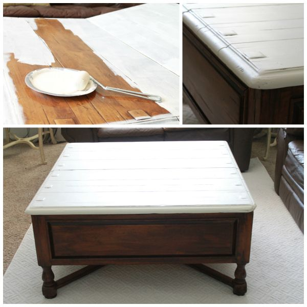 Two tone coffee table tutorial furniture makeover Eclectic coffee table makeovers