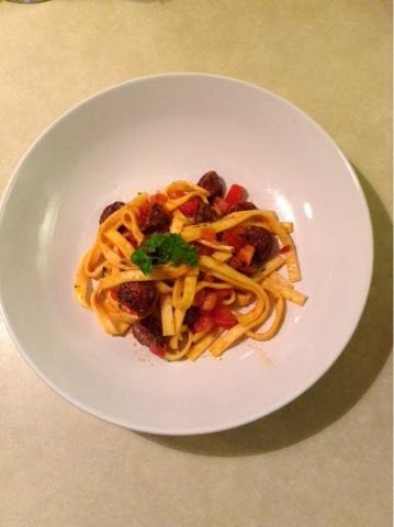 MummyMade: Pasta med chorizo