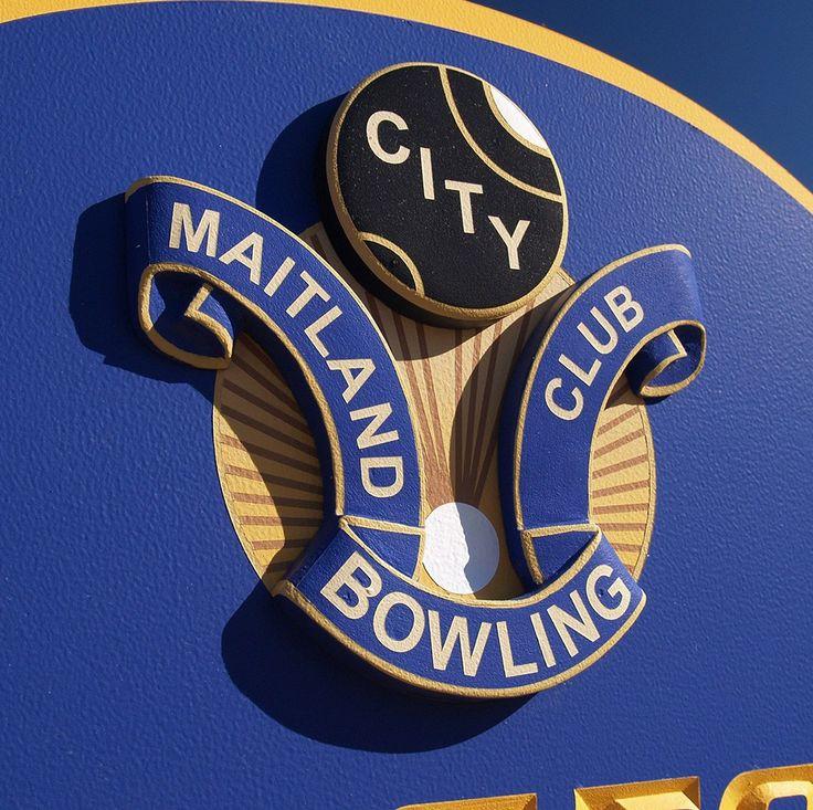 Maitland Bowling Club Sign Detail / Danthonia Designs