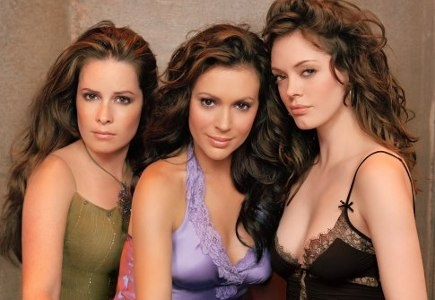 3/4 of the amazing sisters ;D  Alyssa Milano/ Phoebe Halliwell.  Rose McGowan/Paige Matthews.  Holly Marie Combs/Piper Halliwell.  <3