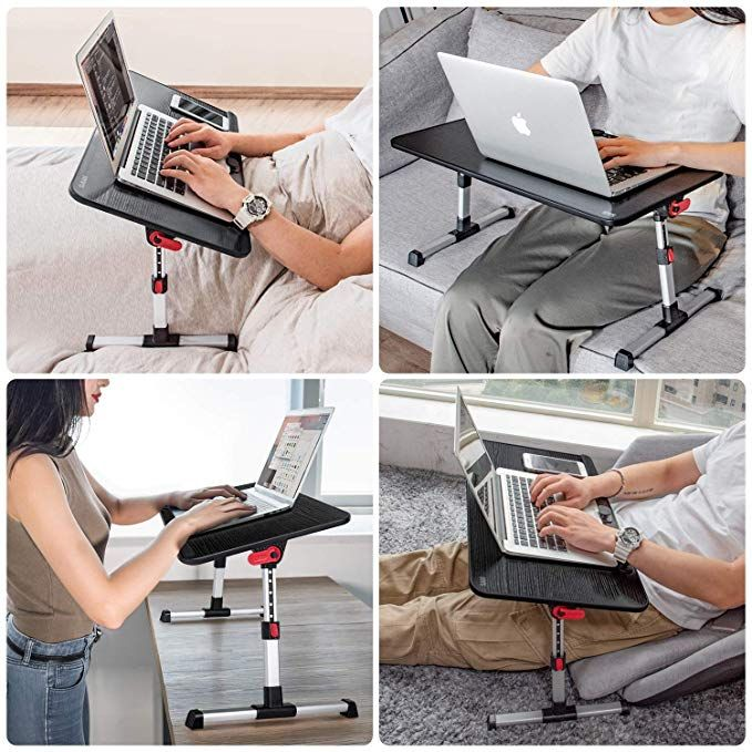 Saiji Laptop Table Bed Desk Adjustable Lap Desks Bed Trays For Eating Bed Tray Table Bed Tray Laptop Stand Bed