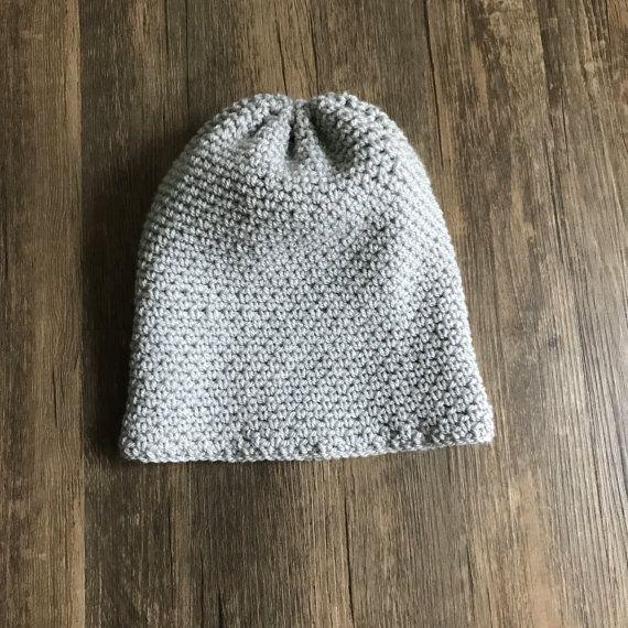 Silver Grey Handmade Crochet Beanie