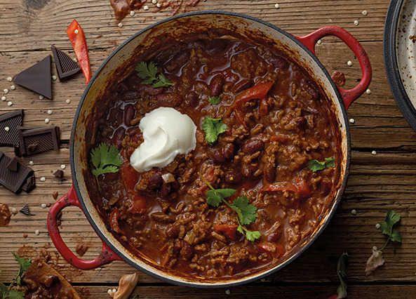 Chilli con carne with dark chocolate twist Recipe