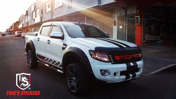 Ford Ranger Custom Racing Stripes Stickers Graphic