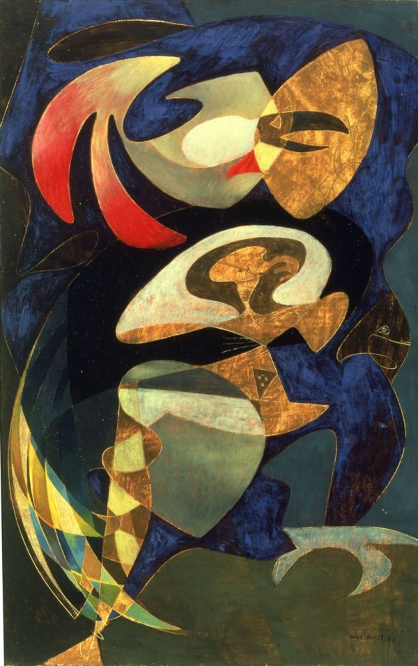 Max Ernst ~ The Weatherman, 1951 (oil on canvas)