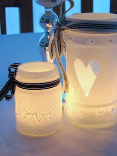 candle in a jar