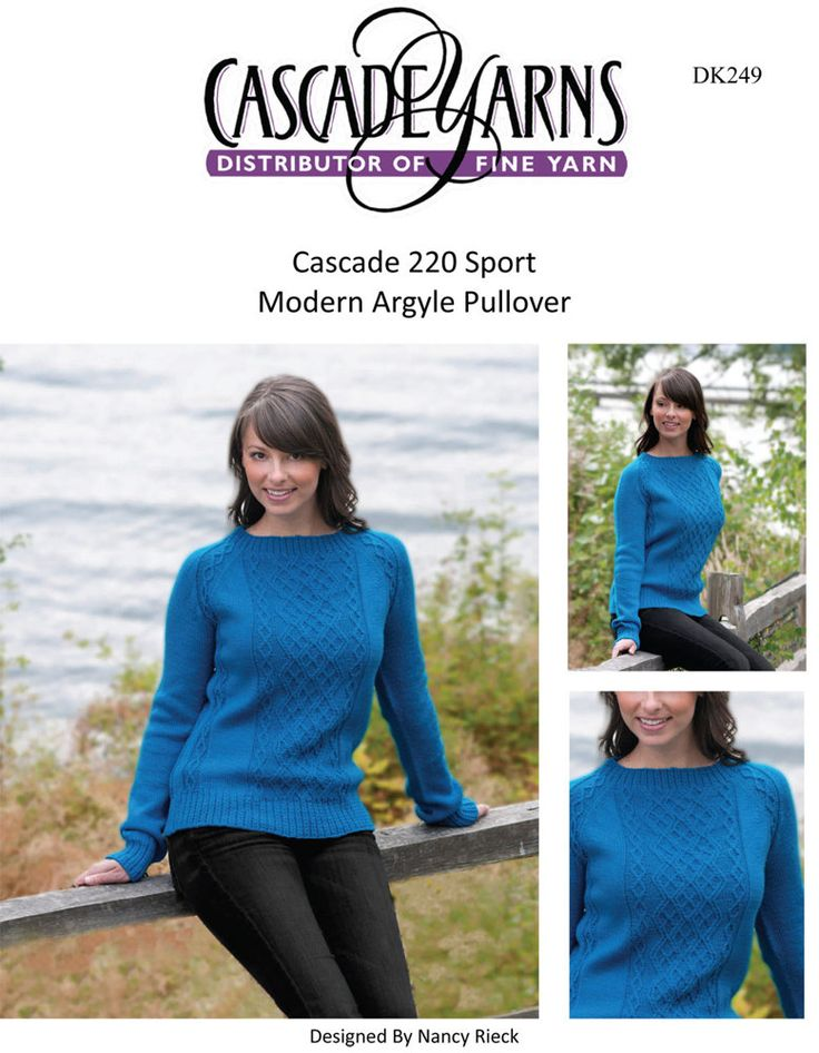 Modern Argyle Pullover in Cascade 220 Sport - DK249. Discover more Patterns by Cascade Yarns at LoveKnitting. We stock patterns, yarn, needles and books from all of your favorite brands.