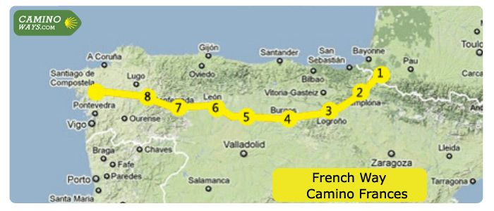 French Way - The most Popular   Camino de Santiago   CaminoWays.com - Your Camino in Style