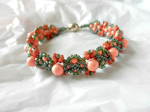 Hey, I found this really awesome Etsy listing at https://www.etsy.com/il-en/listing/239989125/pink-coral-pearl-bracelet-victorian